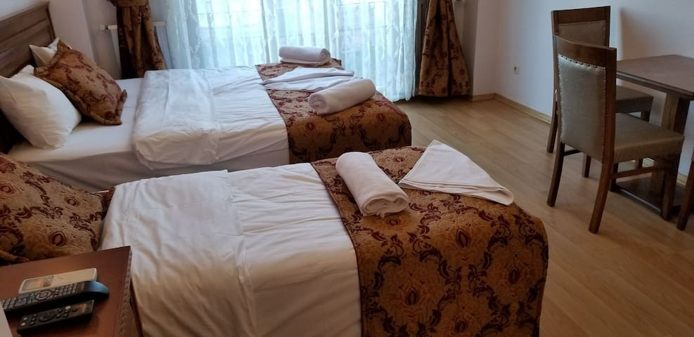 The Double bed and the Single bed