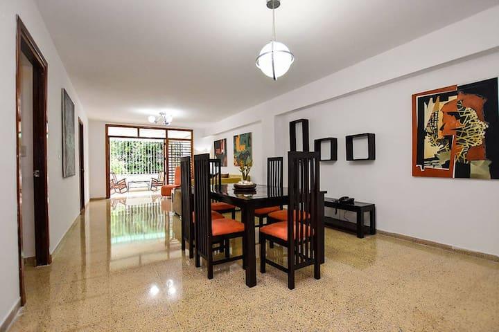 Spacious and fresh living room