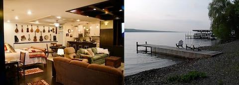 Приватна квартира на березі озера на винній доріжці Сенека
