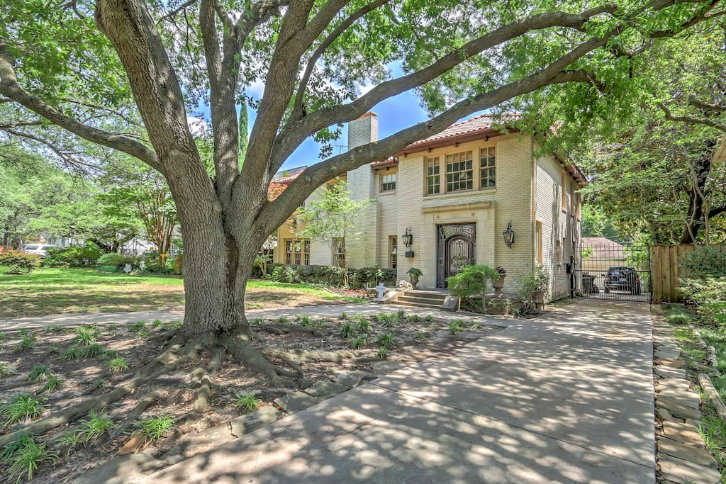 The home is located on a quiet street in one of Dallas' best neighborhoods.