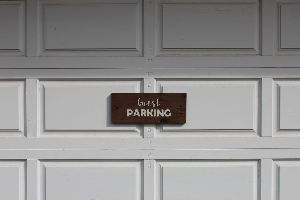Parking for one car, right beside your door