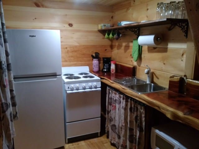 We hope this small kitchen has everything you need to make your stay comfortable and convenient!