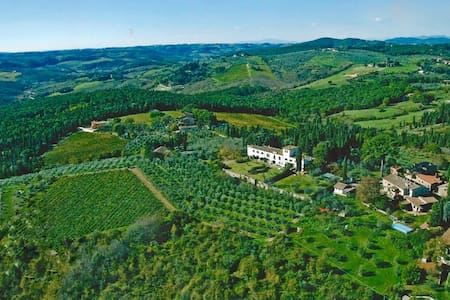 Villa in Chianti near Florence with stunning view