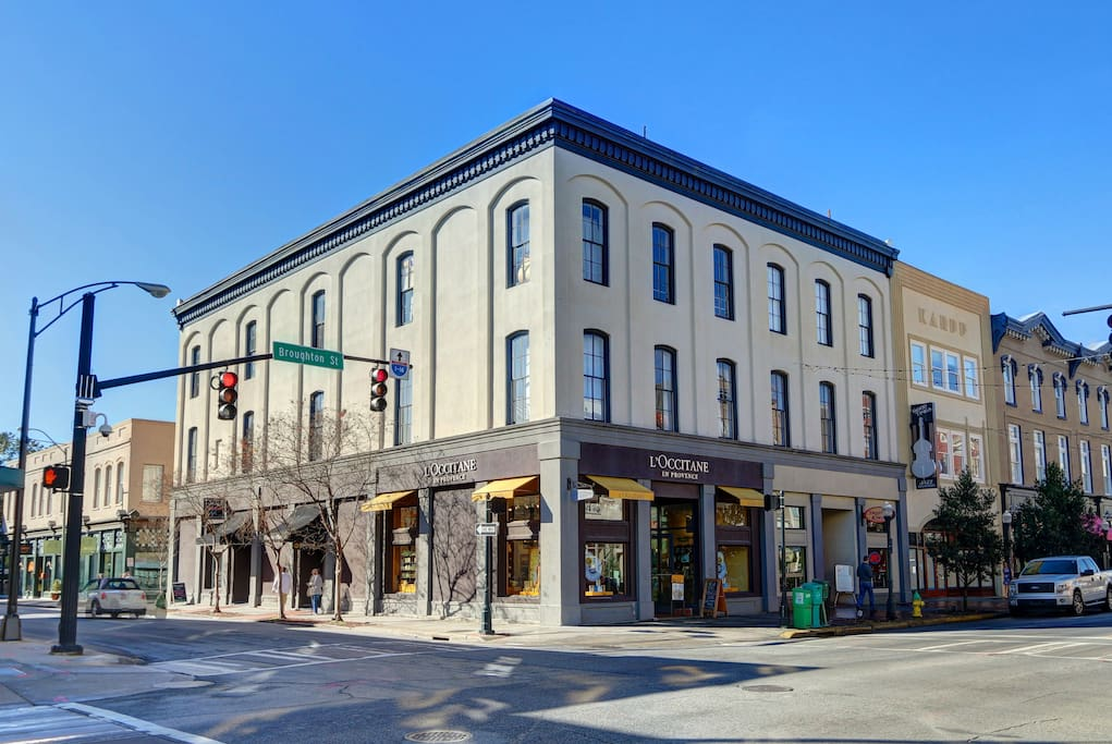 Exterior: Corner of Broughton and Whitaker Streets