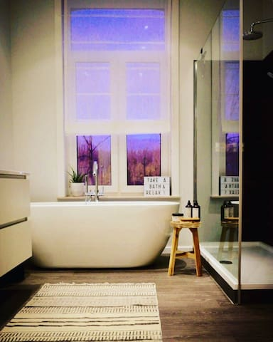 New bathroom that can be used during your stay