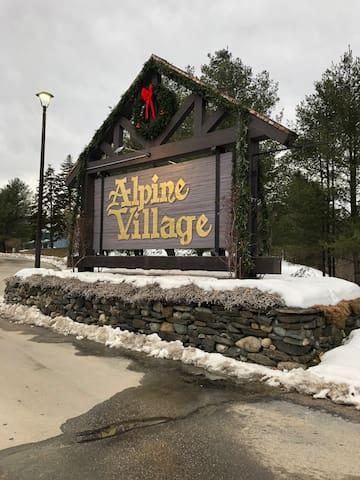 Entrance to Alpine Village