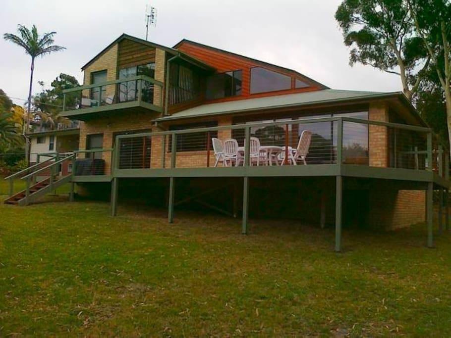 View of house from backyard minus the resident kangaroo