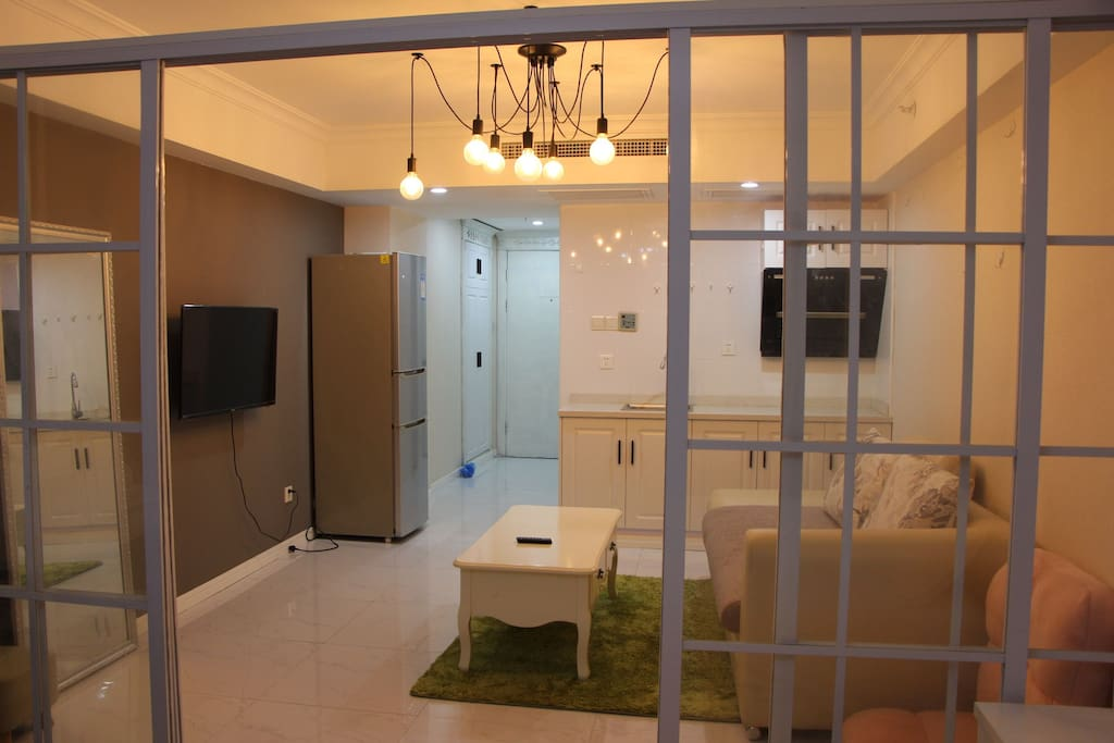 这里给亲营造一个舒适的休闲会客小空间!