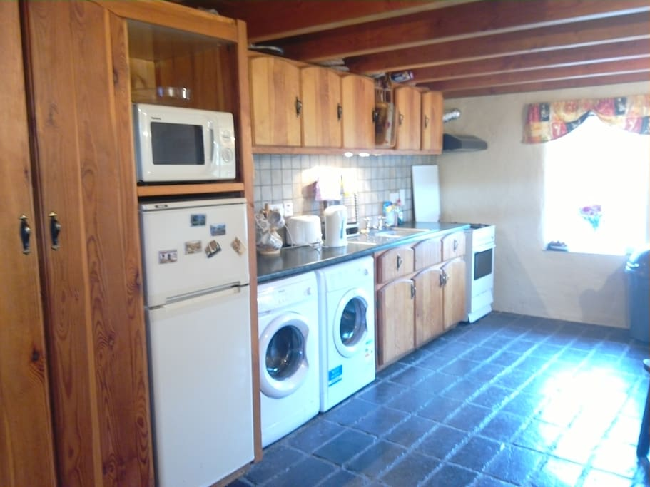 Kitchen for you to cook in.