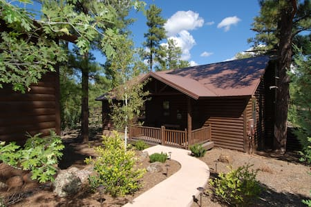 Peaceful Cabin with privacy, extended deck and amenities - Chalet