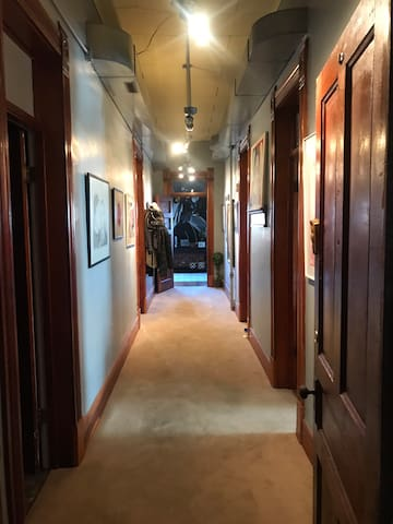 Hallway into apartment
