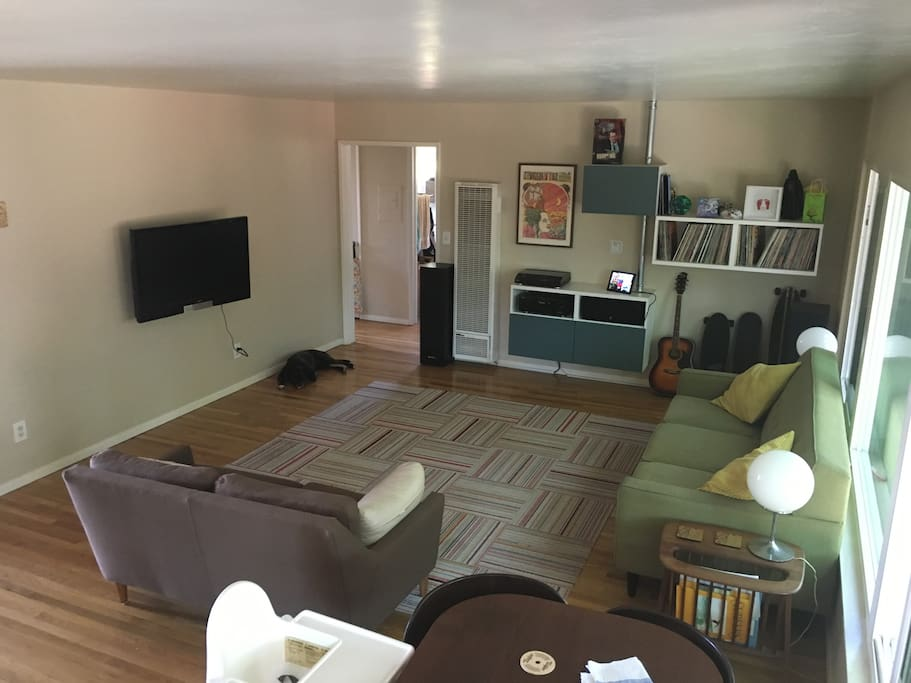 Large, light living room! Looks out on back yard