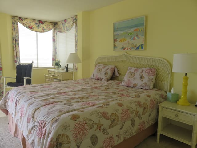 Master Bedroom with King Bed, walk in closet and private bath