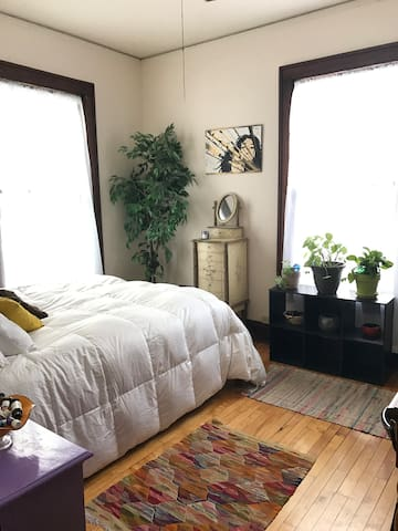 Sunny, Beautiful Room in Vibrant Willy St. Area - Madison - Huis