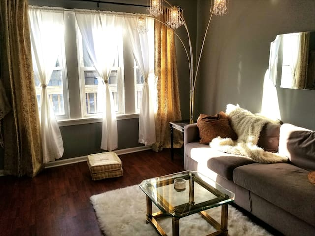 Heart of Logan Square, private room, sunny w/deck!