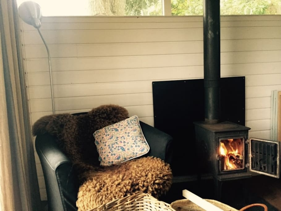 Woodstove and seating