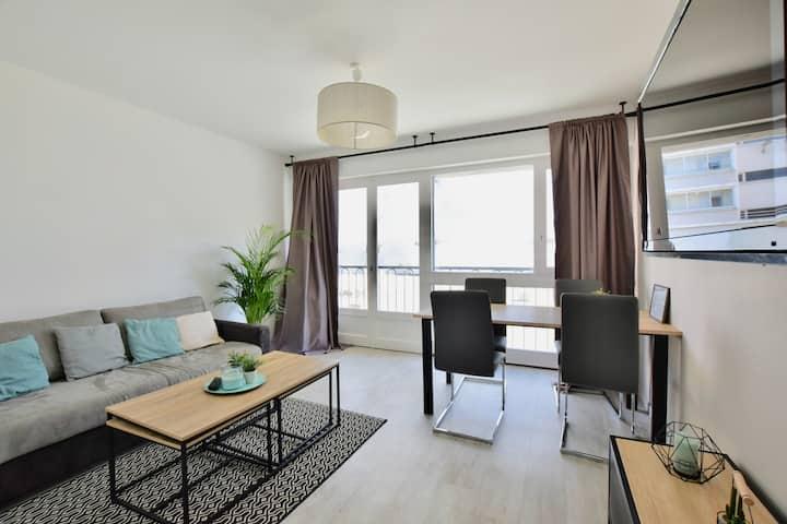 Superbe appartement rénové de 50m2 au centre ville