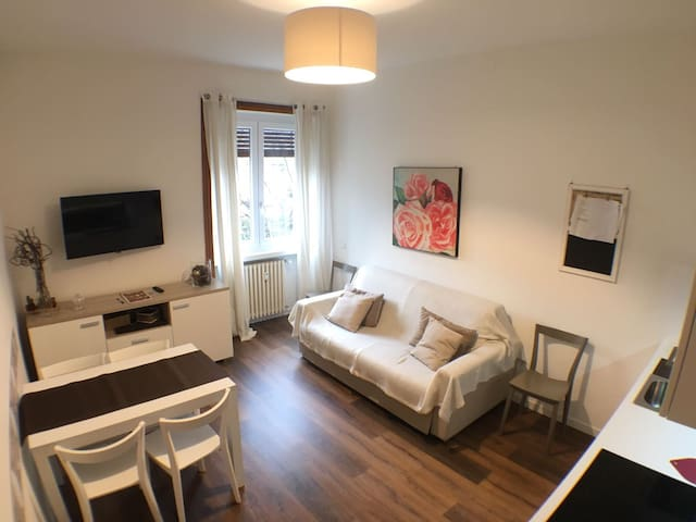 New and cozy only 10' from train station or center - Bergame - Appartement