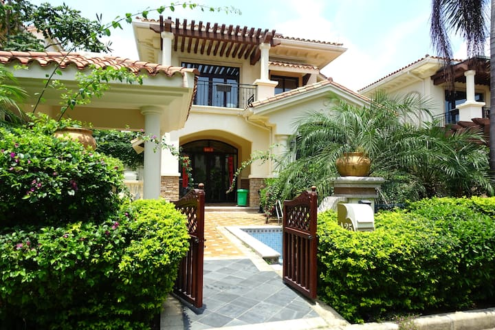253石梅湾南燕湾私家泳池法式复古独栋别墅4居