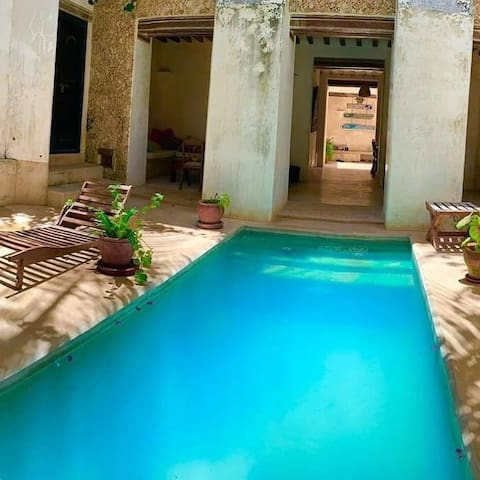 House located in the old town & has swimming pool