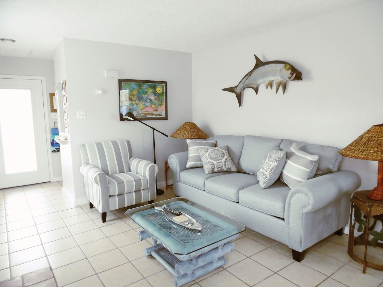 Welcome to Tarpon Quarters! Large 1 BR with a queen sleeper sofa in the living room.