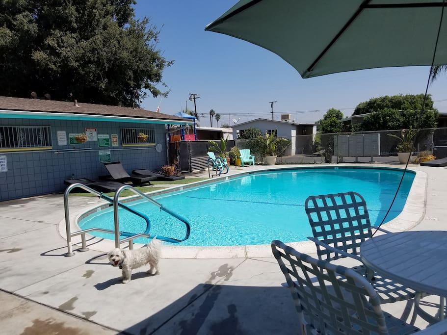 Pool open in warm season