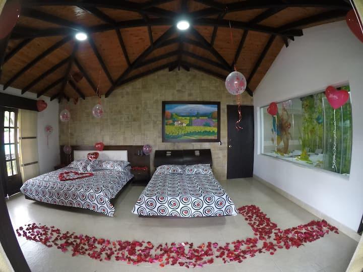 finca-hotel mansión del lago alquila  swit  para 2