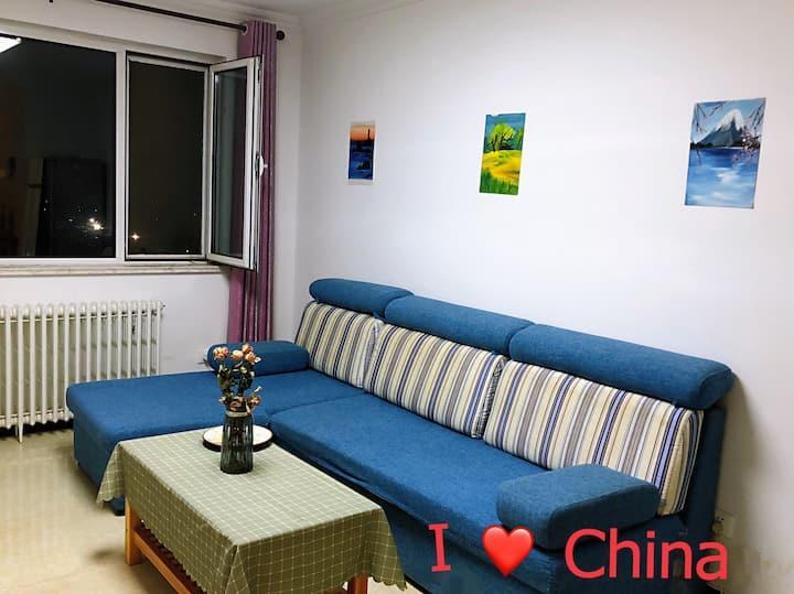 北京中轴线 俯瞰北京城 遥望鸟巢水立方 高品质温馨民宿欢迎来京观光游客
