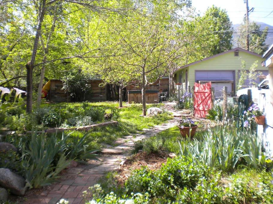 Come through the garden gate, take a left down the garden path