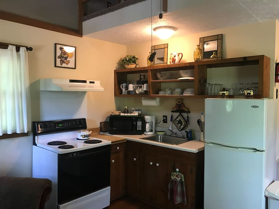 A well equipped kitchen
