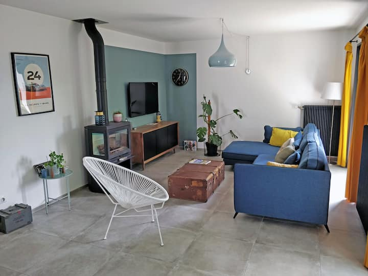 Cosy room in a modern house in the south of Lyon