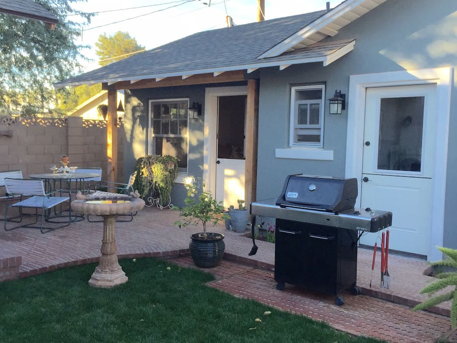 Shared yard and BBQ