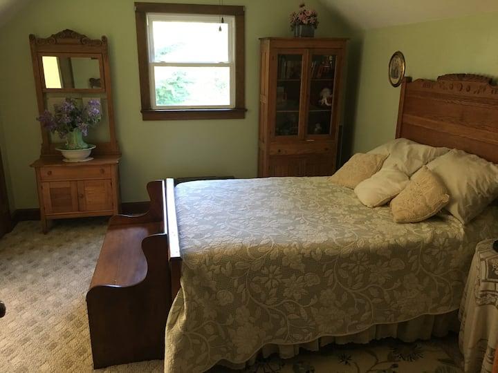 Cozy Bedroom with Unique Decor in Comfortable Home