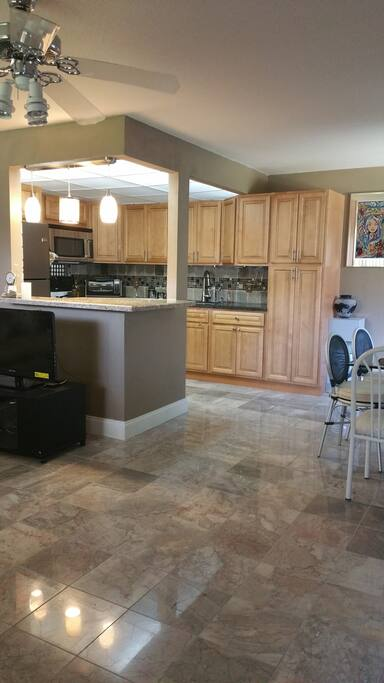 Granite counter tops in kitchen and Island
