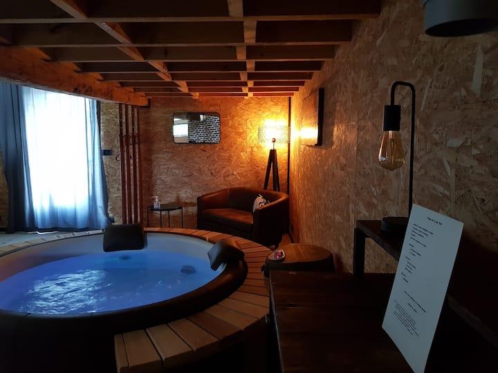 Chambre d'hôtes de charme avec spa et sauna privés