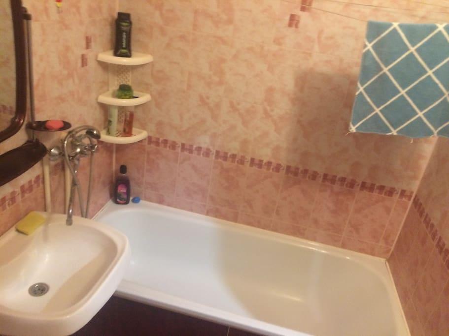 санузел с ванной совмещенный