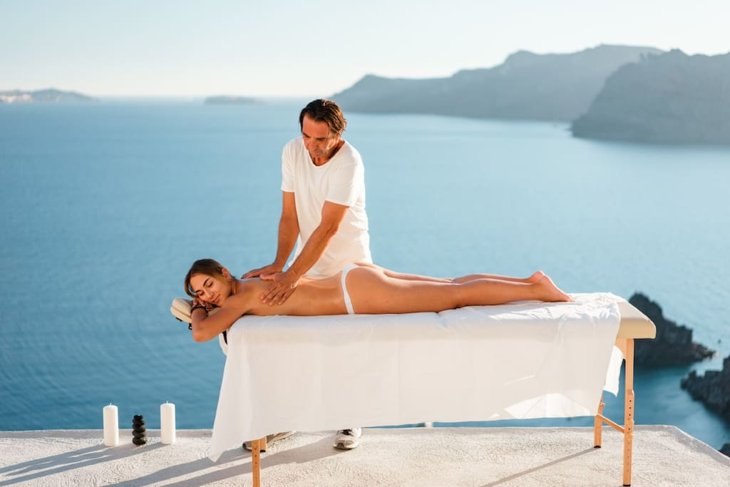 Spoil yourself  massage with view