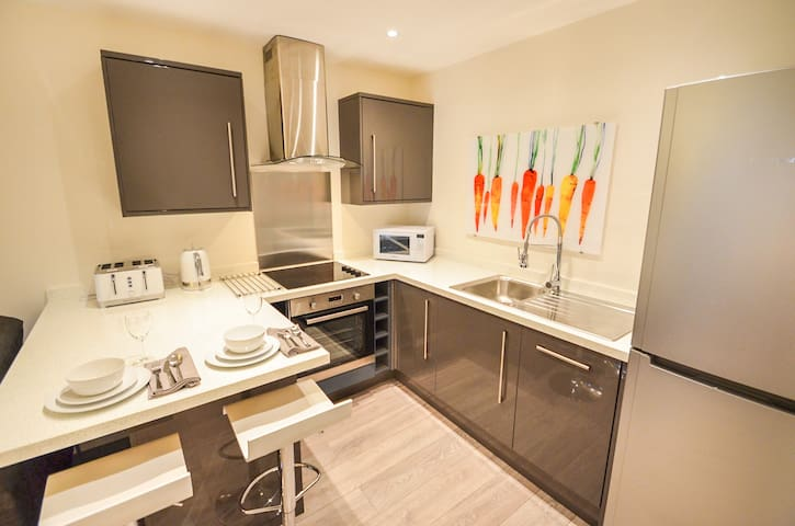 The Radcliffe - Stay near Notts sports venues in smart 1 bed flat