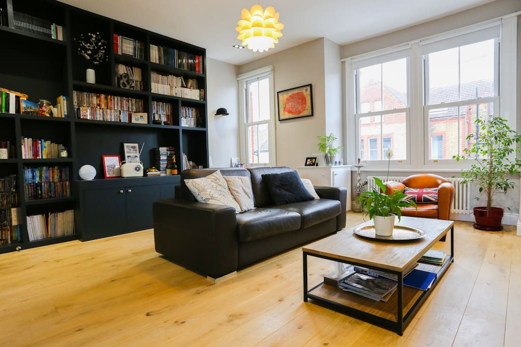 The beautifully furnished open plan living space