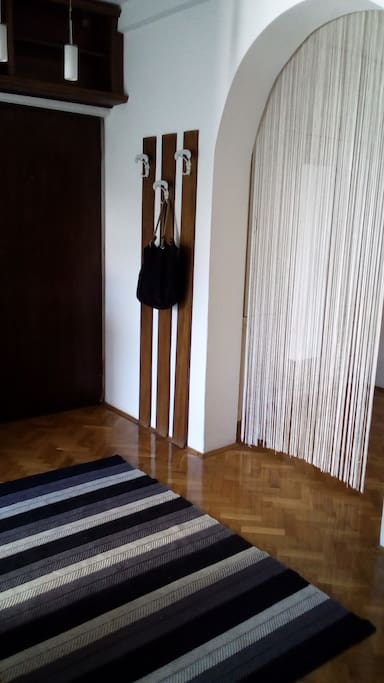 Entrance with hangers