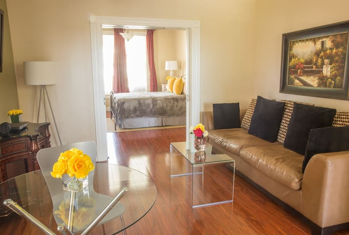 Downtown, Spacious and Bright with Balcony!