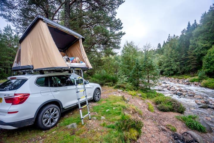 tente de toit 4 places pour sortie insolite