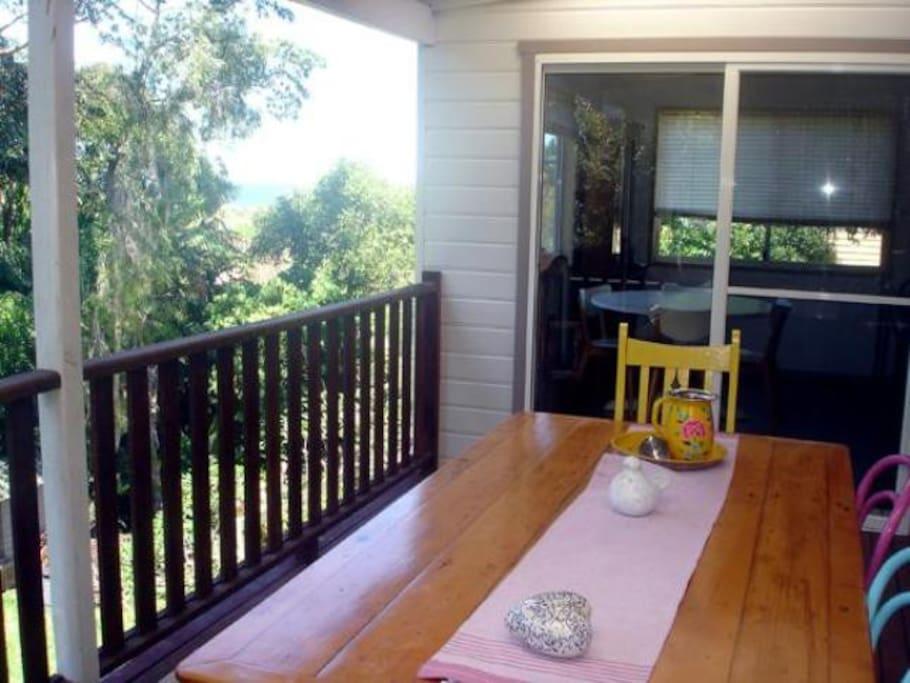 North facing deck
