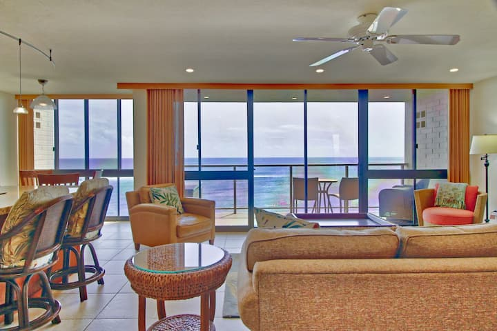Kuhio Shores - Ocean Front in Poipu with AC