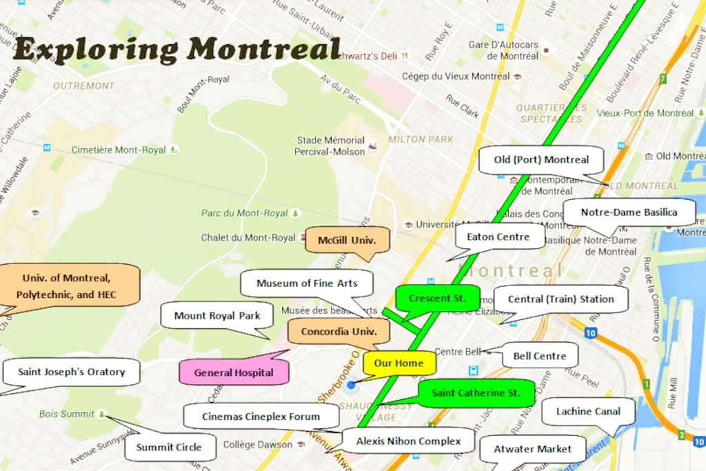 Central location, walking distance to many of the city's attractions