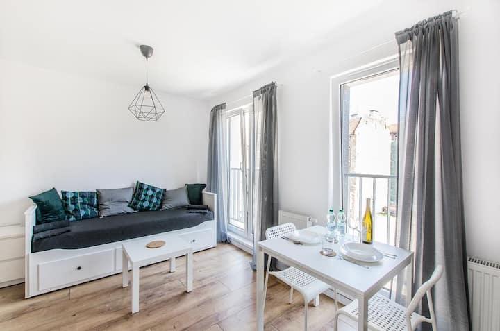 Grey Apartment! Przytulny apartament dla dwojga!