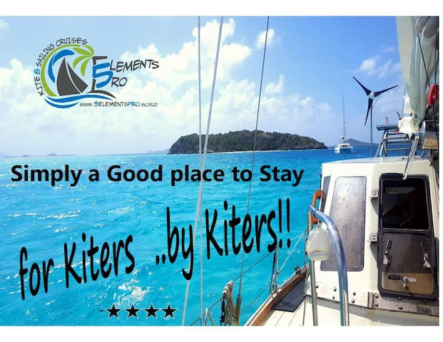 ROOM on YACHT- 2Guests-Union Island- r#4- KITERS!