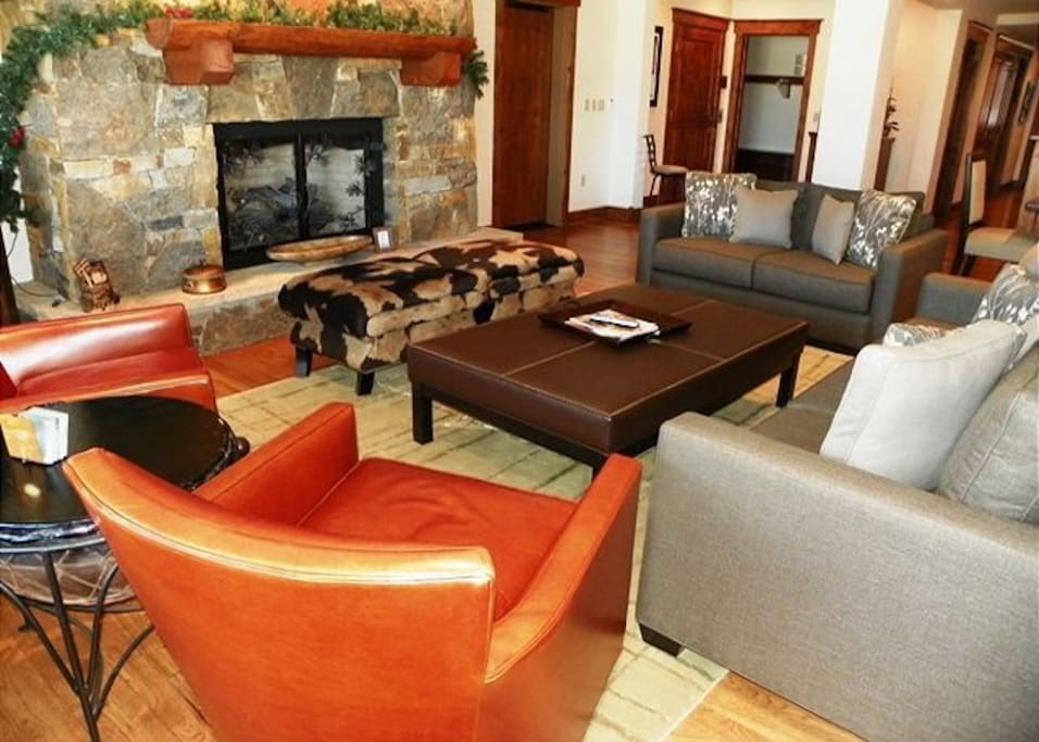 Living Room with Gas Fireplace -   VAIL BUTLER