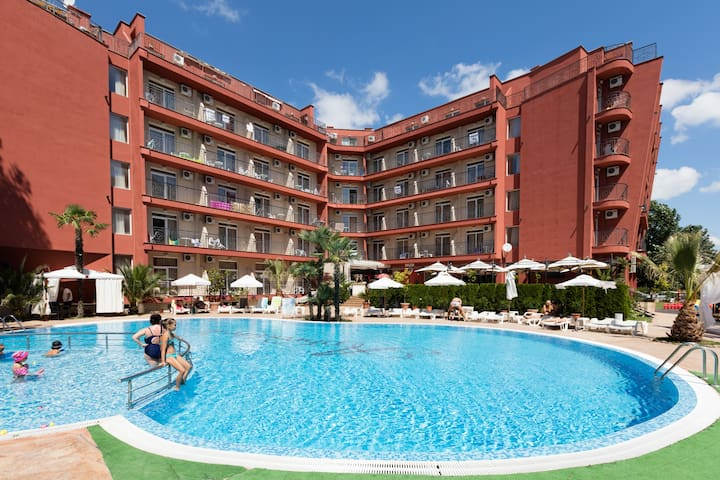 ★Excellent★ studio in Afrodita 2 complex ❤ kitchen - Sunny Beach - Apartemen