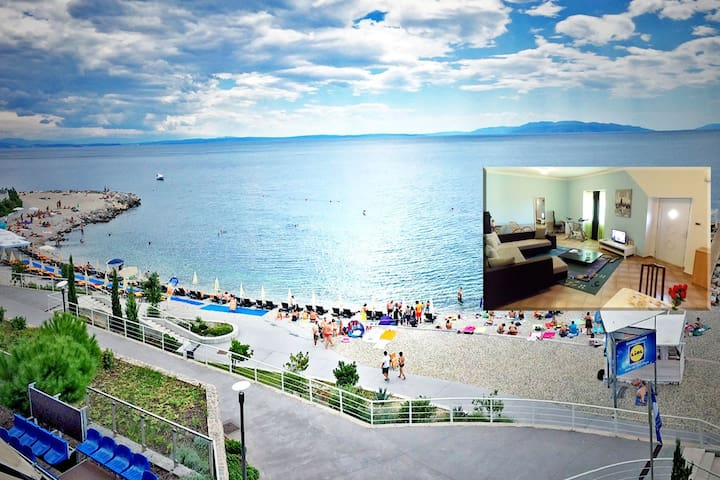 Charming & Spacious + Secure Parking Lot-Rijeka :) - Rijeka - Departamento